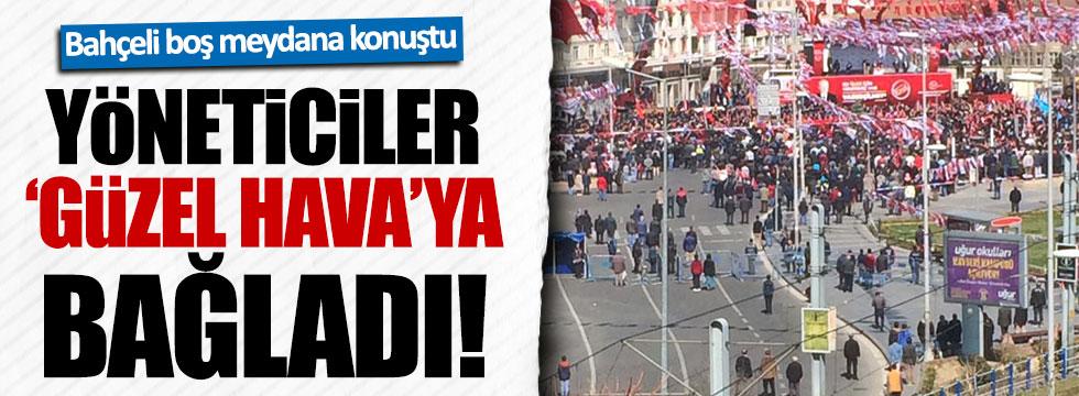 Bahçeli, Kayseri'de boş meydanlara konuştu