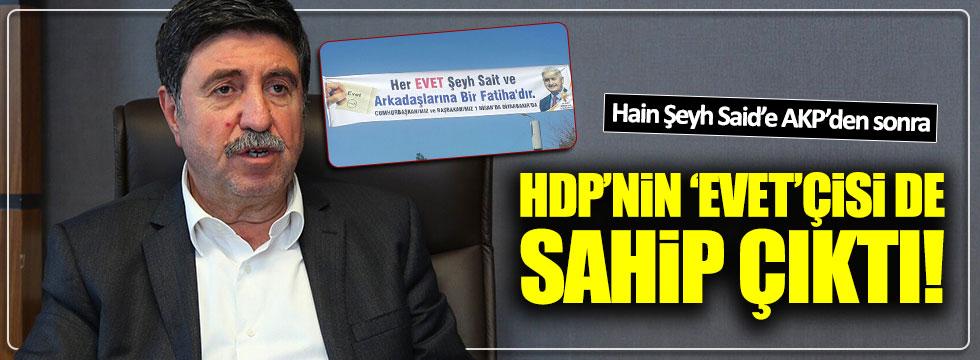 AKP'nin Şeyh Said pankartına HDP'den tam destek