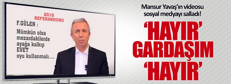 Mansur Yavaş'ın 'hayır' videosu paylaşım rekorları kırıyor