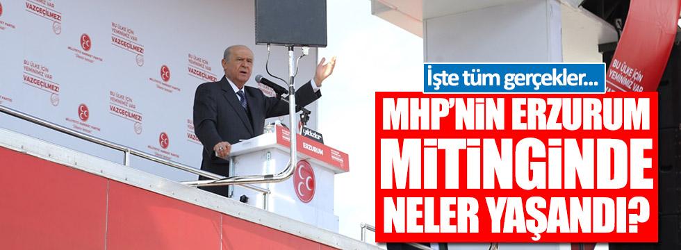 MHP Erzurum mitinginde neler yaşandı?