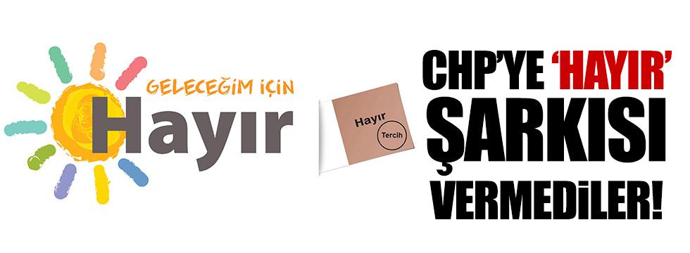 CHP'ye referandum şarkısı vermediler!