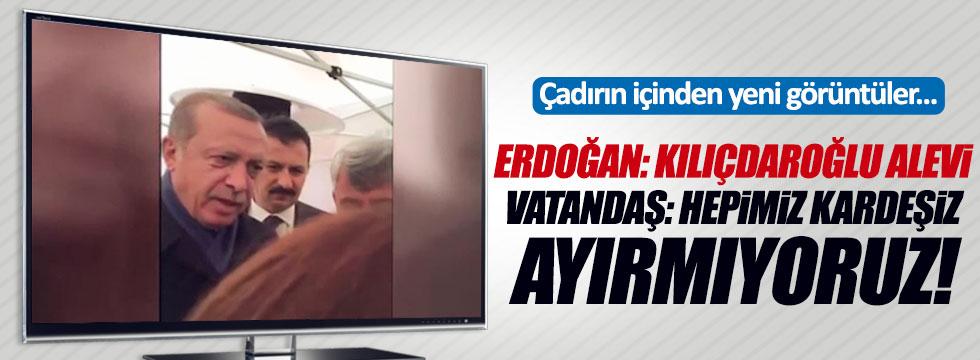 Erdoğan'ın girdiği 'hayır' çadırından yeni görüntüler