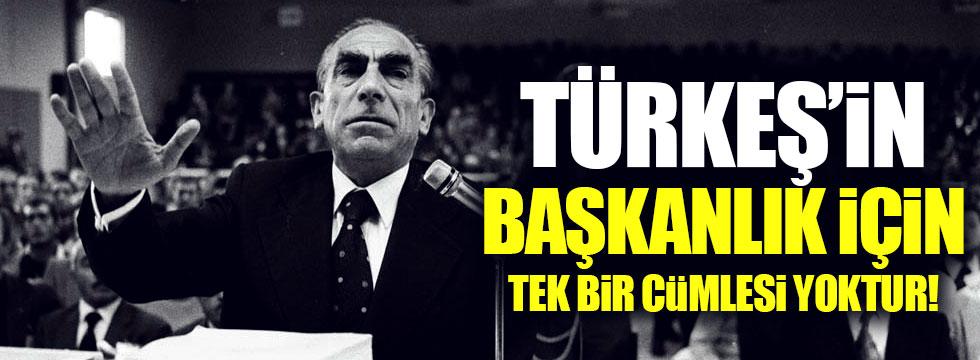 """Akyol: """"Türkeş'in başkanlık için tek bir cümlesi yoktur"""""""