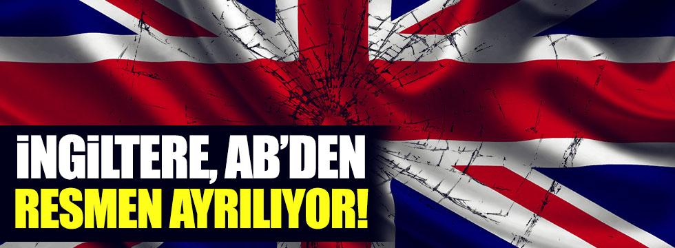 İngiltere, AB'den ayrılık  sürecini resmen başlattı