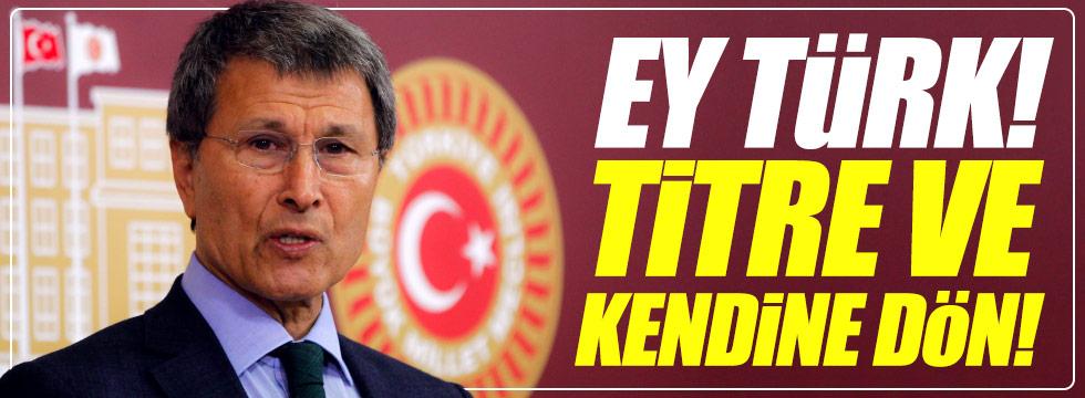 Halaçoğlu: Ey Türk! Titre ve kendine dön!