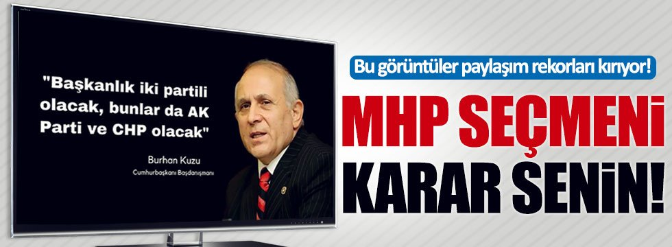 'Evet' çıkması halinde MHP'nin geleceğini anlatan video paylaşım rekorları kırıyor