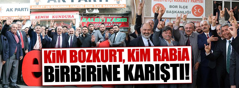 Türkeş'in rabia ve bozkurtlu fotoğraflarına tepki yağıyor