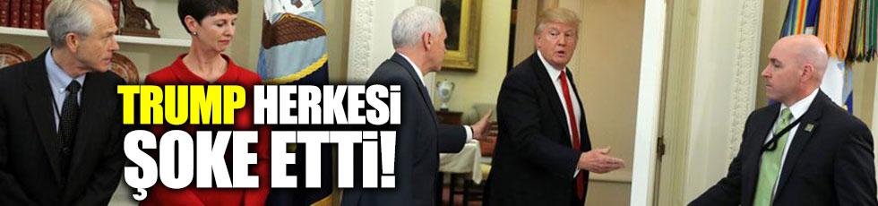 Trump kararnameyi imzalamadan gitti