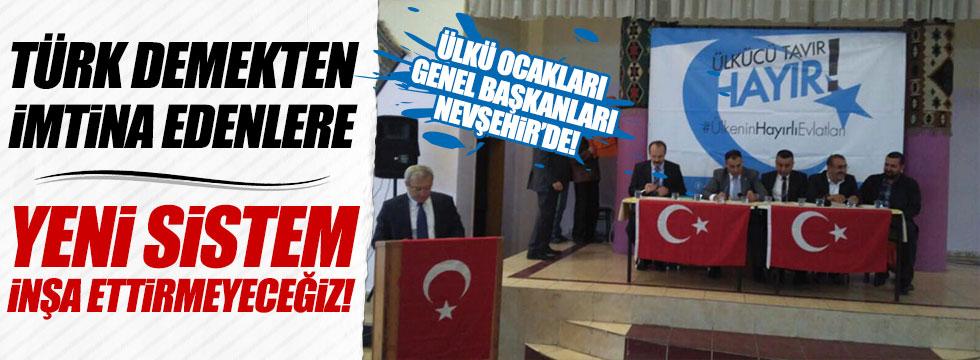 Ülkü Ocakları Genel Başkanları Nevşehir'de konuştu!