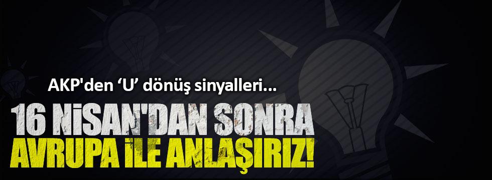 AKP'den 'U' dönüş sinyalleri