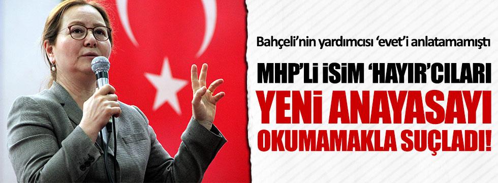 MHP'li Demirel: 'Hayır'cılar yeni Anayasayı okumamış