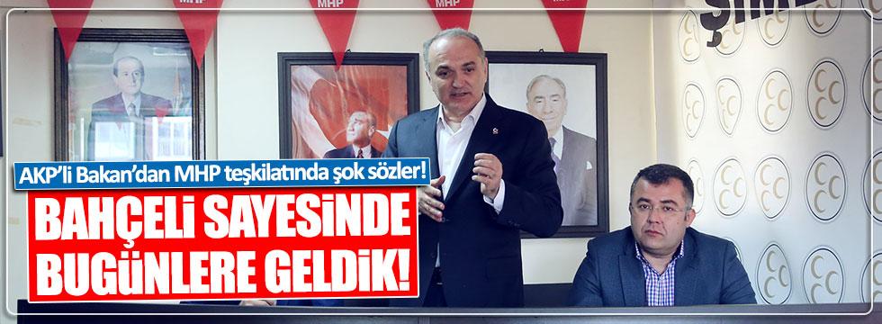 AKP'li Bakan Özlü: Bahçeli sayesinde bugünlere geldik