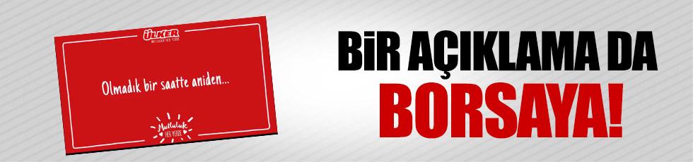 """Ülker'den borsaya """"1 Nisan açıklaması"""""""