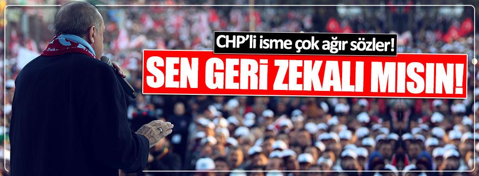 """Erdoğan'dan CHP'li Bozkurt'a: """"Sen gerizekalı mısın?"""""""