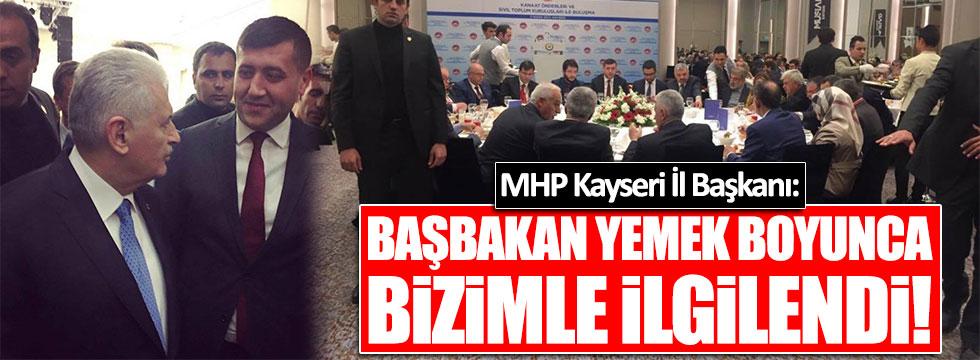 Binali Yıldırım'dan MHP'li Başkana yakına yakın markaj