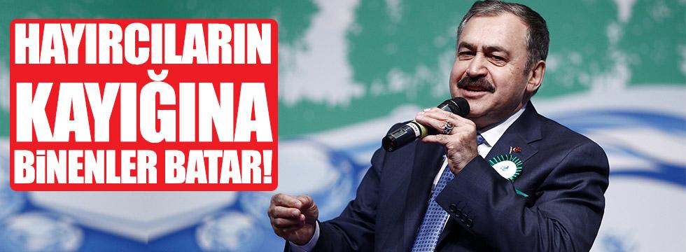 """Eroğlu: """"Hayırcıların kayığına binenler batar!"""""""