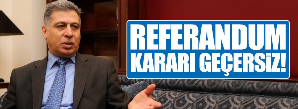 Salihi: Referandum kararı geçersizdir