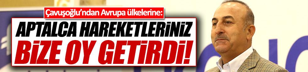 Çavuşoğlu: Dış ülkelerle diplomatik krizler 'evet' oyu getirdi