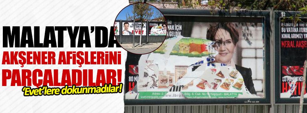 Meral Akşener afişlerine saldırı