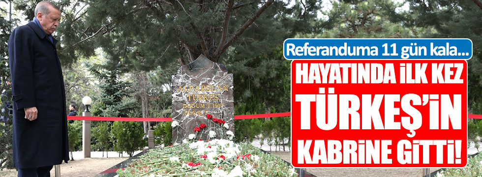 Erdoğan, hayatında ilk kez Türkeş'in kabrine gitti!