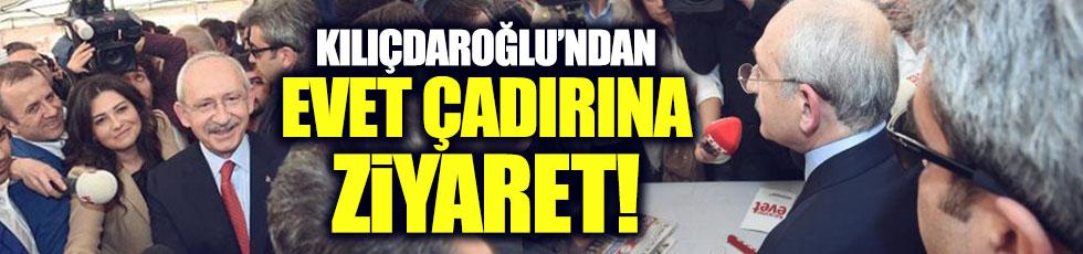 Kılıçdaroğlu'ndan 'evet' çadırına ziyaret