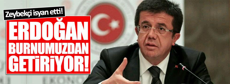AKP'li Bakan: Erdoğan burnumuzdan getiriyor