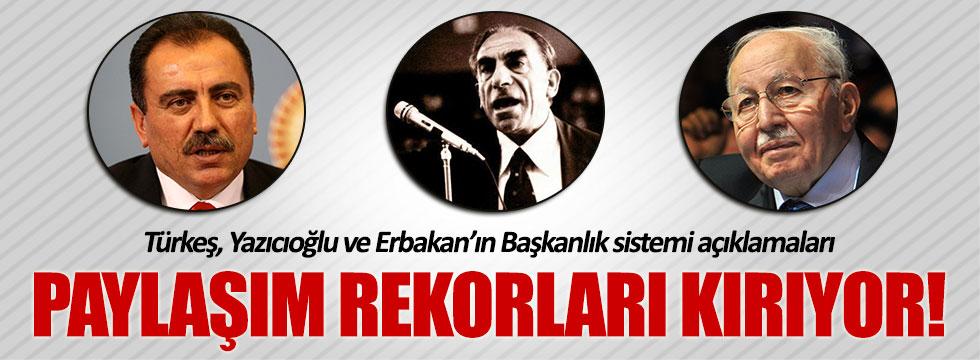 Türkeş, Yazıcıoğlu ve Erbakan'ın görüntüleri paylaşım rekorları kırıyor