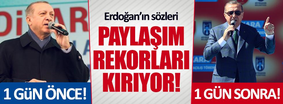 Erdoğan'ın bu görüntüleri sosyal medyayı salladı