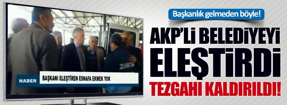 AKP'yi eleştiren pazarcının tezgahı kaldırıldı!