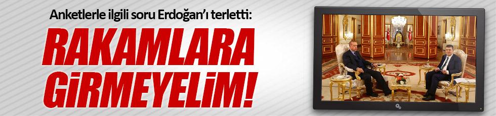 Anketlerle ilgili soru Erdoğan'ı terletti