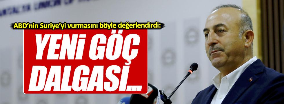 """Çavuşoğlu, """"Yeni göç dalgası gelebilir"""""""