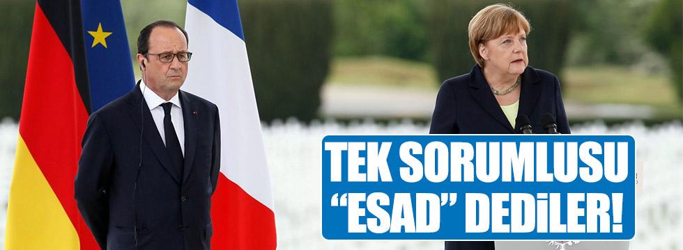 Merkel ve Hollande ortak açıklama yaptı!