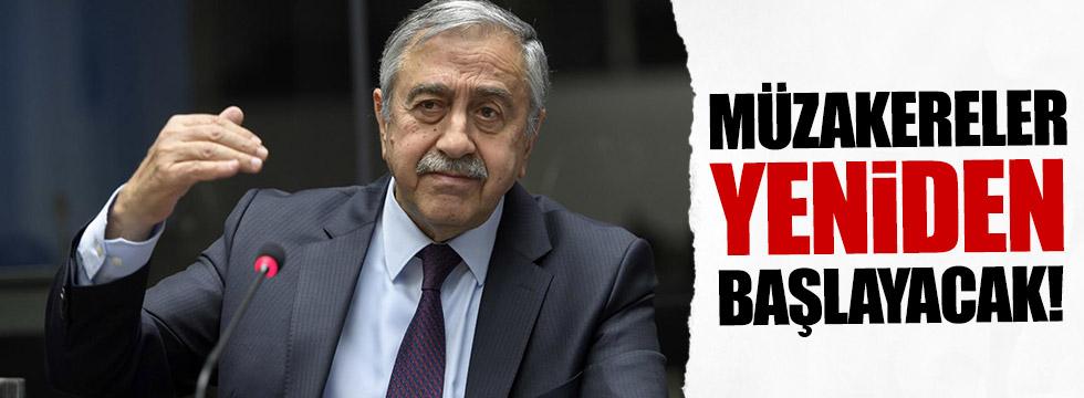 Kıbrıs'ta müzakereler yeniden başlayacak!