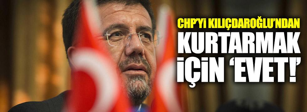 Zeybekci: CHP'yi Kılıçdaroğlu'ndan kurtarmak için 'Evet'!