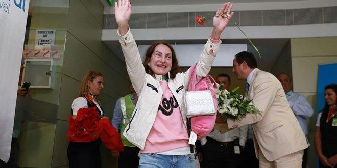 Rus turistler için törenli karşılama