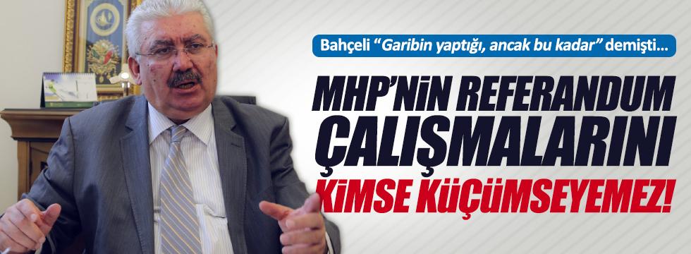 """Yalçın, """"MHP'nin referandum çalışmalarını kimse küçümseyemez"""""""
