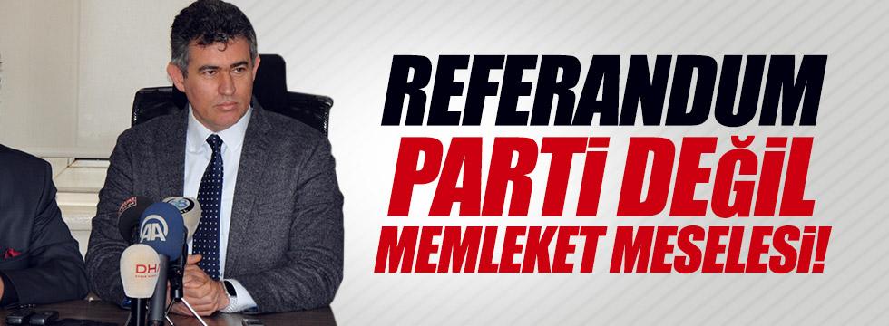 "Feyzioğlu, ""Referandum memleket meselesi"""