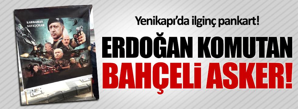 Yenikapı'da açılan pankarta Ülkücülerden tepki
