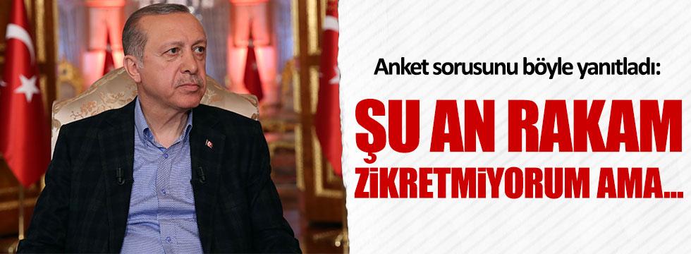 Erdoğan, anket sorusunu böyle cevapladı