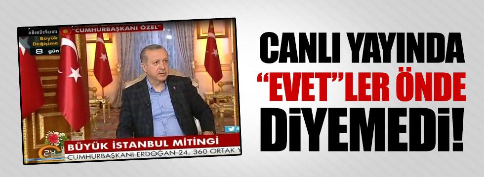 """Erdoğan: """"Yani şuanda bir oran olarak, oran zikretmeyeyim"""""""