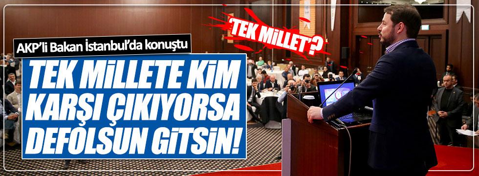 Erdoğan'ın damadı Bakan Albayrak İstanbul'da konuştu