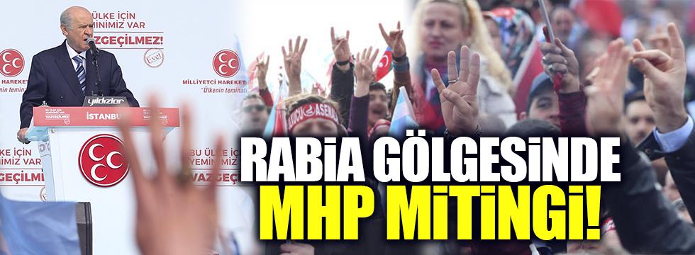Rabia gölgesinde MHP mitingi