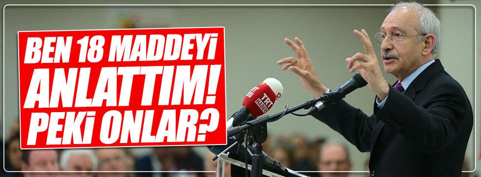 Kılıçdaroğlu'ndan AKP ve MHP'ye gönderme