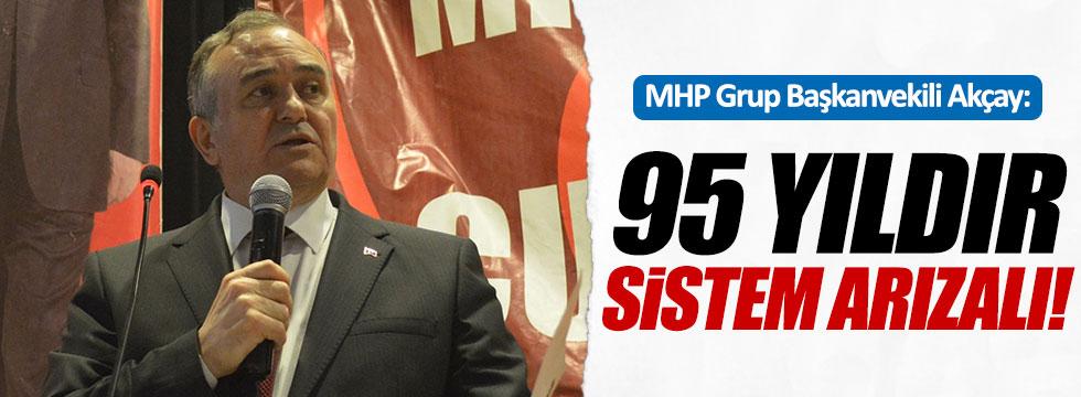 """MHP Grup Başkanvekili Akçay, """"Sistem arızalı"""""""