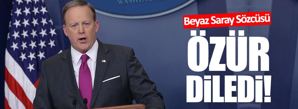 Beyaz Saray Sözcüsü özür diledi!