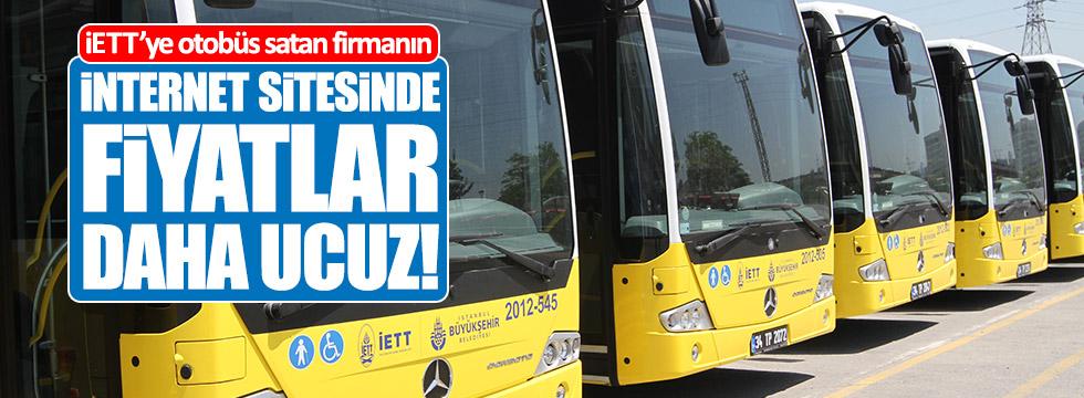 İETT'ye otobüs satan firmanın internet sitesinde fiyatlar daha ucuz!