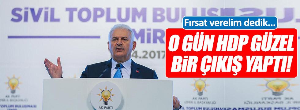 Binali Yıldırım: O gün HDP güzel bir çıkış yaptı!