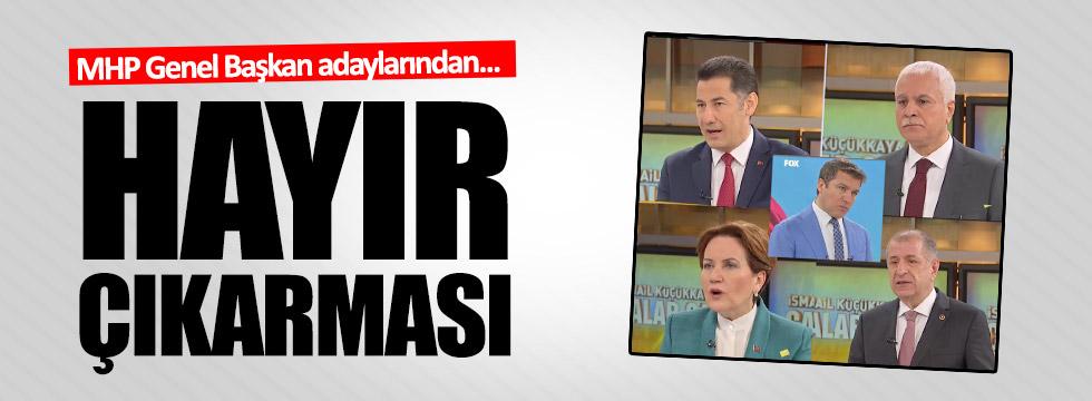 """MHP Genel Başkan Adayları hep birlikte """"Hayır""""ı anlattı!"""