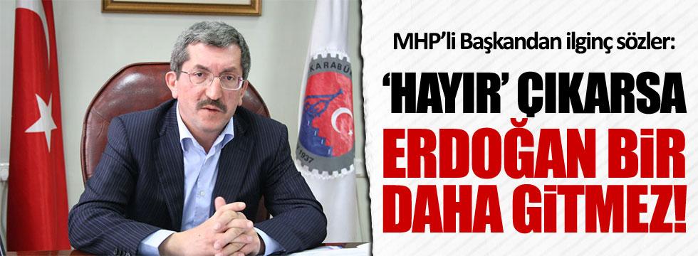 MHP'li Vergili: 'Hayır' çıkarsa Erdoğan ölene kadar Cumhurbaşkanı