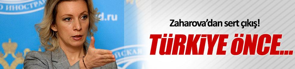 Zaharova'dan Türkiye'ye sert çıkış